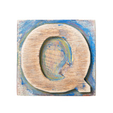 Wooden Alphabet Block, Letter Q Poster by  donatas1205