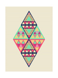 Unusual Geometric Composition Print by  cienpies