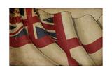 British Naval Flag Old Paper Prints by  nazlisart