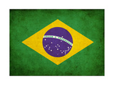 Grunge Flag Of Brasil Posters by  llaszlo