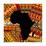 Africa Map On Ethnic Background Plakater af hibrida13