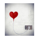 Heart Attached To A Socket Premium Giclee Print by  olly2