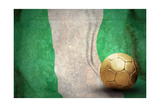 Grunge Flag Of Nigeria And Ball Prints by  yuran-78