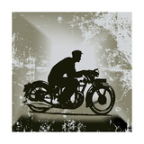 Vintage Motorcycle Background Prints by  Petrafler