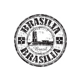 Brasilia Grunge Rubber Stamp Prints by  oxlock
