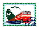 Postage Stamp. Rail Freight Prints by  GUARDING-OWO