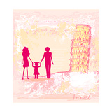 Italian Family Travel Background Posters by  JackyBrown