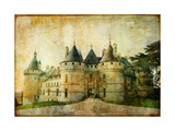 Chaumont Castle - Vintage Picture Print by  Maugli-l