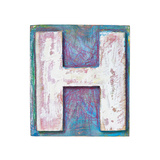 Wooden Alphabet Block, Letter H Poster by  donatas1205