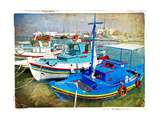 Greek Boats - Artistic Picture Prints by  Maugli-l