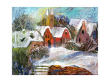 Winter Ancient City In Snow Prints by  balaikin2009