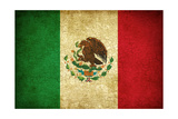 Grunge Flag Of Mexico Kunstdrucke von Graphic Design Resources