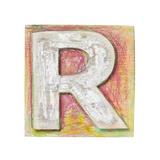 Wooden Alphabet Block, Letter R Print by  donatas1205