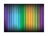 Multicolored Lines 35 Print by  Lappenno