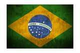 Grunge Flag Of Brazil Posters by  Gilmanshin