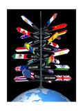 Global Business And Tourism Kunstdrucke von  ktsdesign