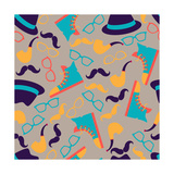 Hipster Style Seamless Pattern Print by  incomible