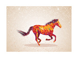 Colorful Abstract Horse Shape Posters by  cienpies