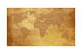 Map Of World On Old Paper Posters af charobna