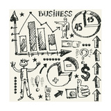 Hand Drawn Business Doodles Print by Andriy Zholudyev