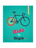 Bicycle, Vintage Poster ポスター :  Marish
