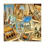 Vintage Collage - European Travel Poster af  Maugli-l