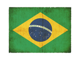 Grunge Flag Of Brazil Art by  cmfotoworks