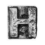 Metal Alloy Alphabet Letter H Poster by  donatas1205