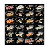 24 Types Of Sushi Rolls Premium Giclee Print by  Lev4