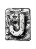 Metal Alloy Alphabet Letter J Kunstdrucke von  donatas1205