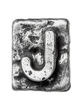 Metal Alloy Alphabet Letter J Prints by  donatas1205