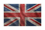 Grunge Rugged Uk Flag Prints by  Hannuviitanen