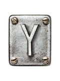 Old Metal Alphabet Letter Y Prints by  donatas1205
