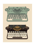 Vintage Typing Machine Art by  davooda