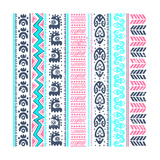 Abstract Tribal Pattern Poster af transiastock
