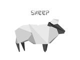 Illustration Of An Origami Sheep Prints by  unkreatives