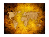 World Map Textures And Backgrounds Prints by  ilolab