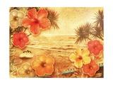 Tropical Vintage Beach Kunstdruck von  Vima