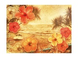 Tropical Vintage Beach Print by  Vima