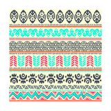 Abstract Tribal Pattern Premium Giclee Print by  transiastock