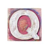 Wooden Alphabet Block, Letter Q Prints by  donatas1205