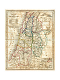 Viejo Mapa de Holy Land Lámina por Tektite