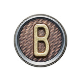 Metal Button Alphabet Letter Prints by  donatas1205