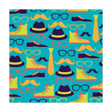 Hipster Style Seamless Pattern Prints by  incomible