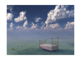 Bed In Surreal Peaceful Landscape Prints by  rolffimages