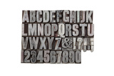 Vintage Metal Alphabet Prints by  GlyphStock