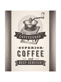 Vintage Coffee Background Posters by  diarom