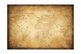 Aged Treasure Map Background Prints by  Andrey_Kuzmin