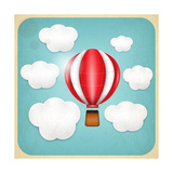 Vintage Balloon Retro Card Print by  elfivetrov