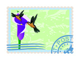 Postage Stamps With Hummingbirds Posters by  GUARDING-OWO